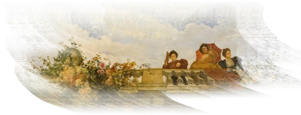 Rosas en la balconada. Enrique y Julio Romero de Torres.