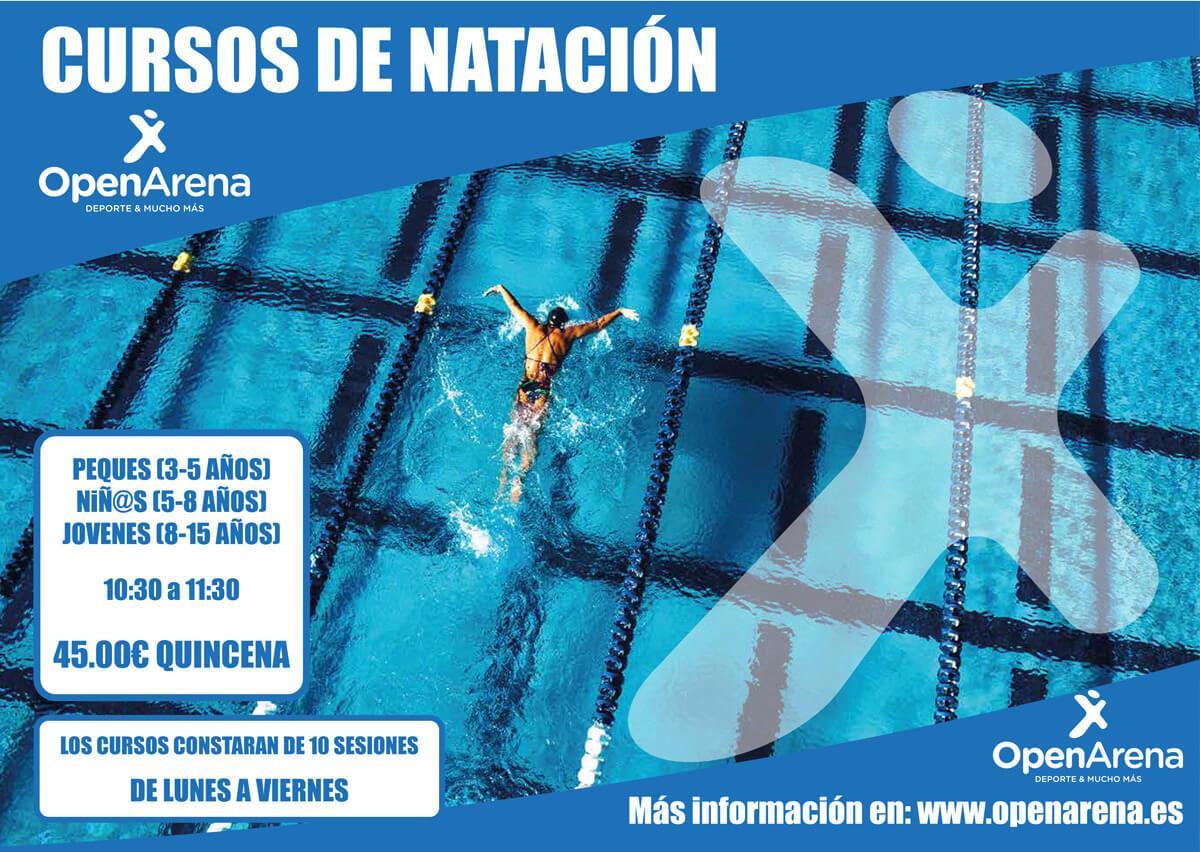 Cursos de natación open arena