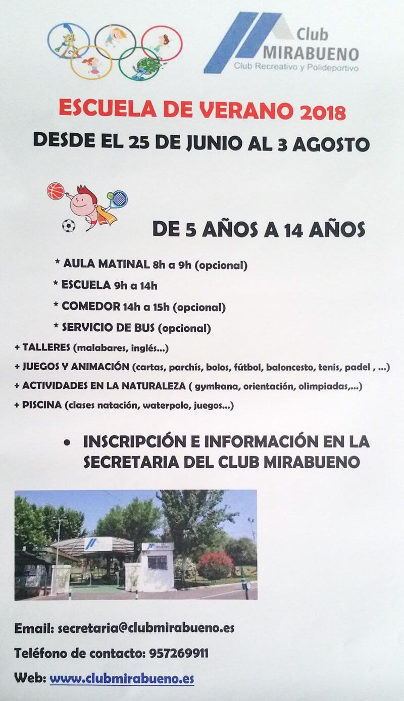 Escuela de verano Club Mirabueno
